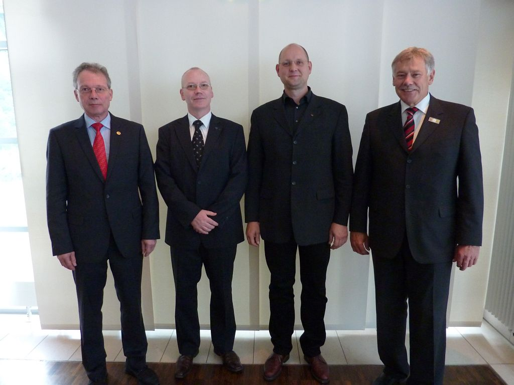 (v.l.n.r.) Präsident - Bernd Döbel, 1. Vize-Präsident - Daniel Krause, 2. Vize-Präsident - Frank Wörner, Geschäftsführer - Jürgen Lindner