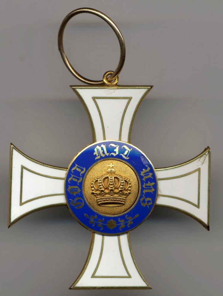 Abb. 3: Kronenorden 2. Klasse mit einfach gewundener Ringaufhängung