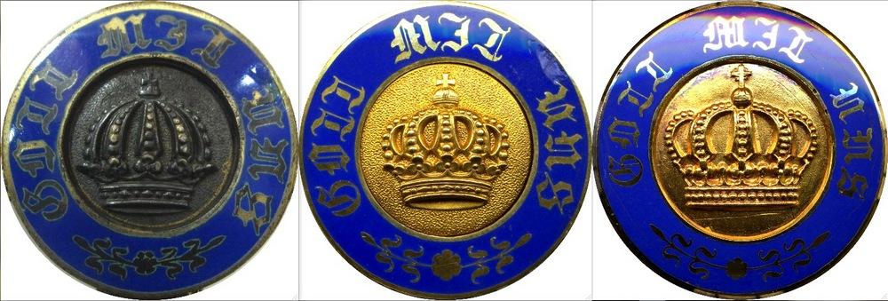Abb. 20: Bildvergleich der drei Kronen