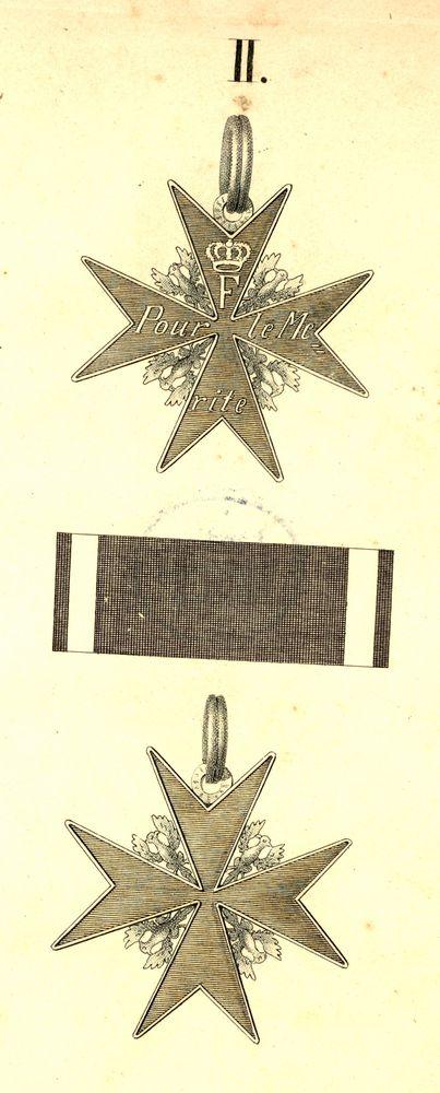 Abb. 8: Militär-Verdienstorden, pour le mérite, Abb. aus der Preußischen Ordensliste 1817.