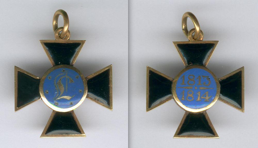 Abb. 13: Luisenorden, 1. Drittel 19. Jahrhundert, Gold und Emaille, 11,4 g.