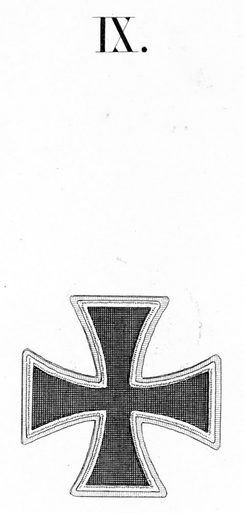 Abb. 21: Die Dekoration zur 1. Klasse des Eisernen Kreuzes, aus der Ordensliste 1817 entnommen.