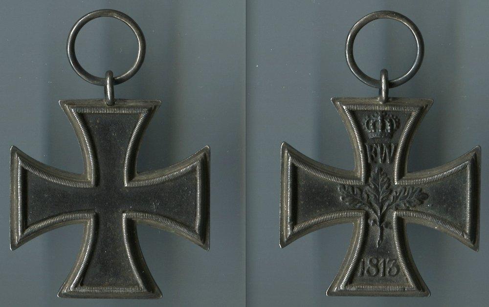 Abb. 24: EKII 1813, Katalogisiert nach Heyde C1, nach Wernitz AII/5 T12 - T14 und der Berliner Eisengießerei zugeordnet, 15,3 g.