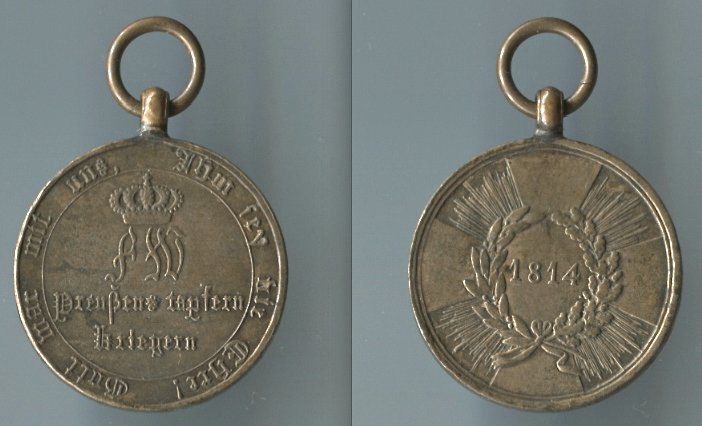 Abb. 28: KDM 1. Modell, 1814, mit runden Armen; 15,8 g.