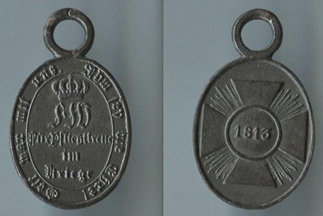 Abb. 38: Nicht-Kombattanten-Medaille 1813; 7,1 g.