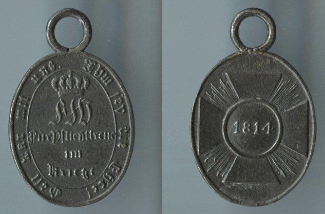 Abb. 39: Nicht-Kombattanten-Medaille 1814; 6,6 g.