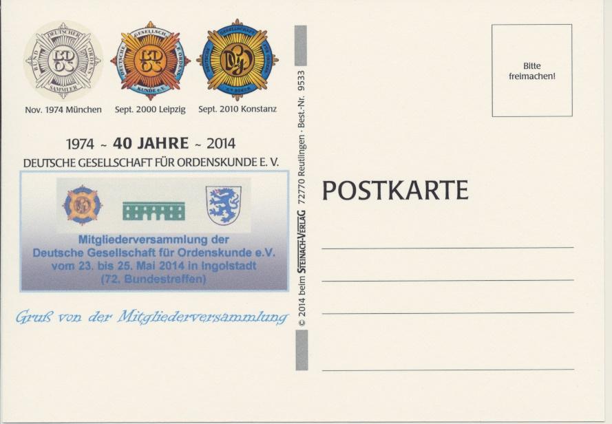 Postkarte 40 Jahre DGO