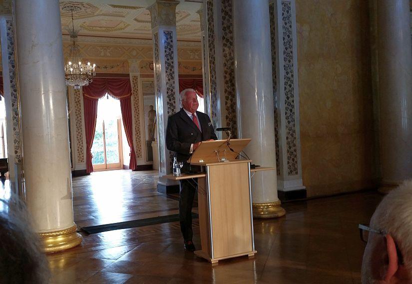 Ausstellungseröffnung Ehrengast Prinz Michael von Sachsen-Weimar