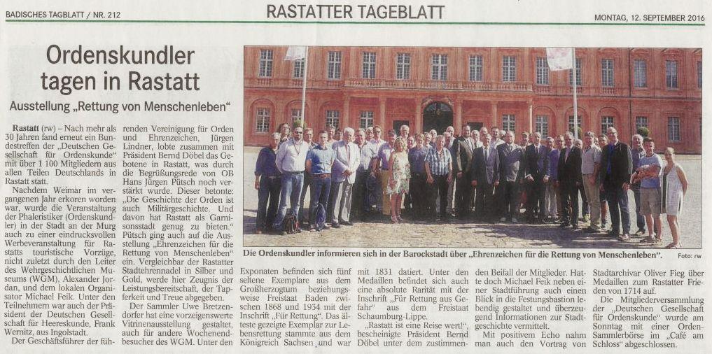 Badisches Tageblatt v. 12.09.16