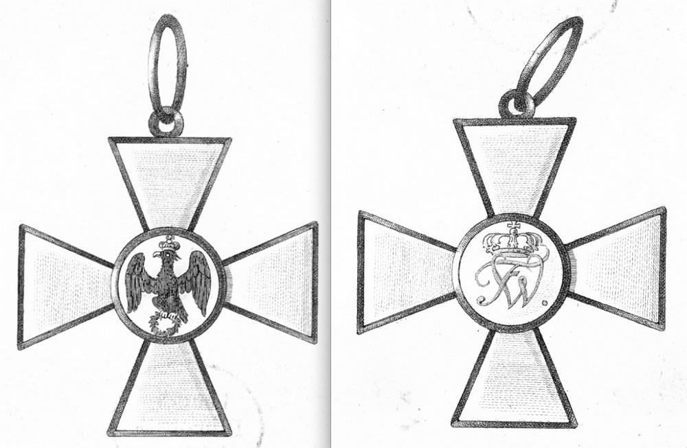 Abb. 5: Reproduktion aus der Preußischen Ordensliste 1817, Roter Adlerorden 1. Klasse, erstes Modell