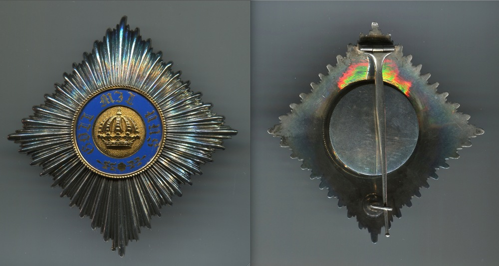 Abb. 16: Stern zum Kronenorden 2. Klasse, 1. Modell