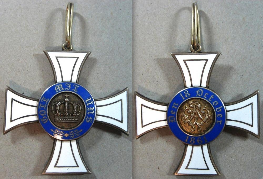 Abb. 24: Kronenorden 1. Klasse, 4. Modell, vergoldetes Silber