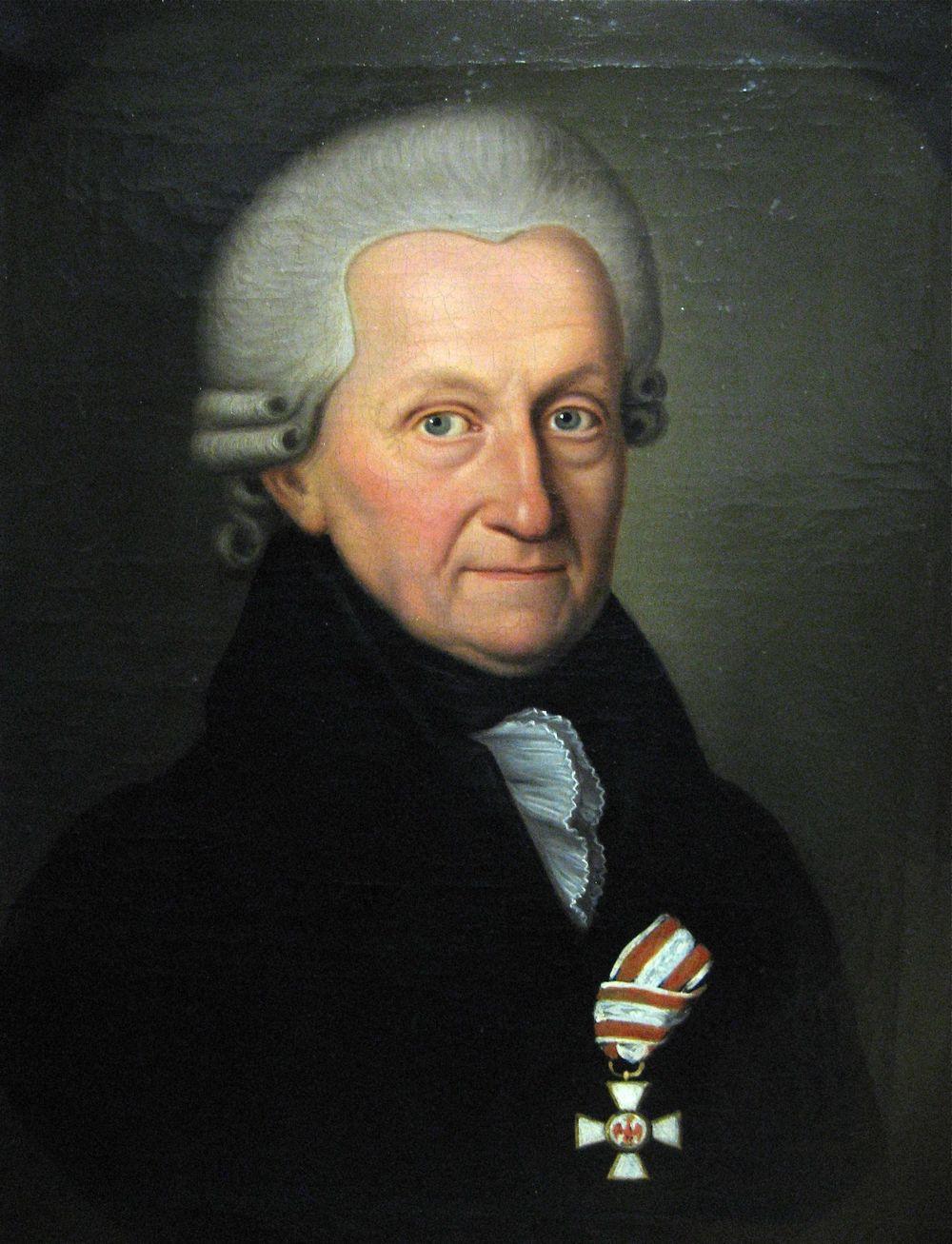 Abb. 7: Hofprediger Brüggemann 1749 - 1817 dekoriert mit seinem Roten Adlerorden der 3. Klasse des 1. Modells.