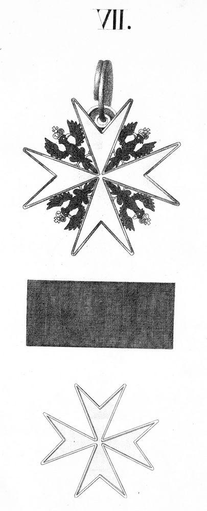 Abb. 11: Die Ordensliste 1817 zeigt eine solche Abbildung des Johanniter-Ordens.