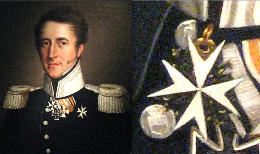 Abb. 12: Auch auf natürlich wiedergegebenen Porträts erkennt man dieses frühe Modell sofort wieder. Bei dem Porträtierten handelt es sich um den Freiherrn August Friedrich Carl von der Horst.