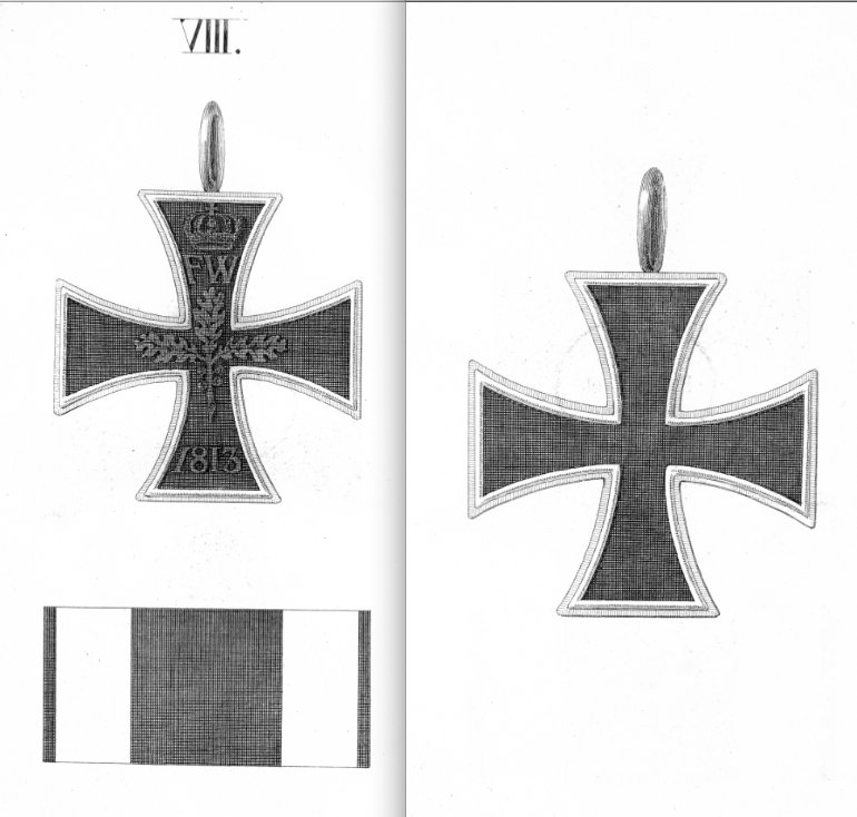 Abb. 19: Großkreuz zum Eisernen Kreuz. Abb. aus der Ordensliste 1817.