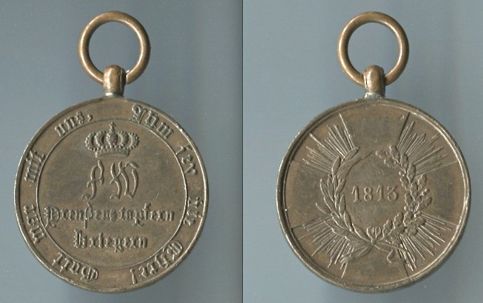 Abb. 26: KDM 1. Modell, 1813, mit runden Armen; 15,7 g.