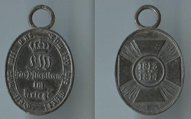 Abb. 40: Nicht-Kombattanten-Medaille 1813/14; 6,8 g.