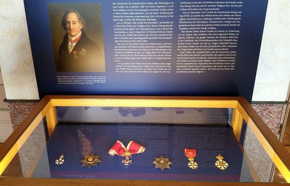 Ausstellung – die Orden Johann Wolfgang von Goethes