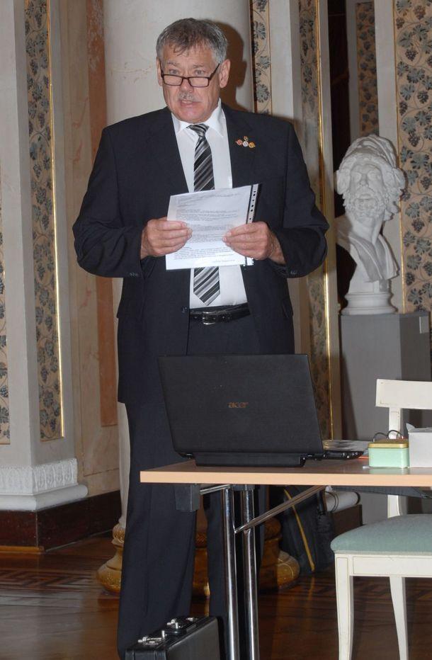 Mitgliederversammlung, Geschäftsführer Jürgen Lindner bei seinem Bericht