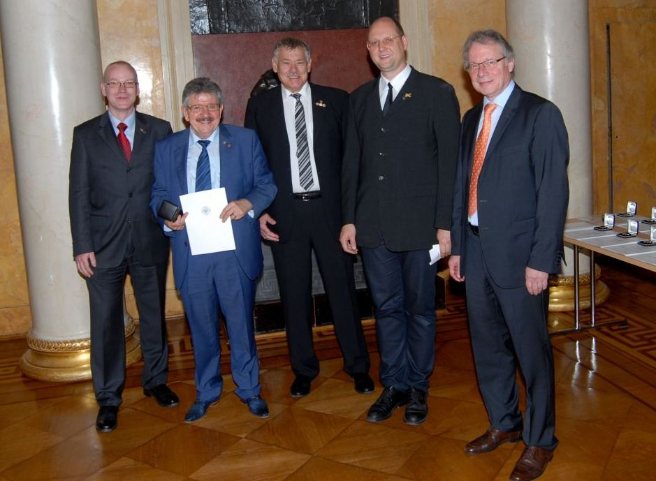 Verleihung der Verdienstmedaille an Lutz Fritsche